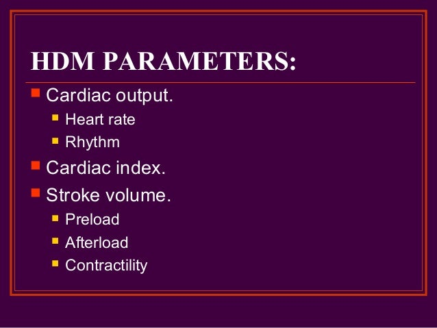 Cardizem Drip Parameters