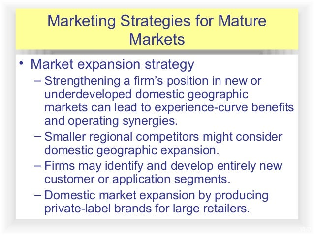Is a market mature