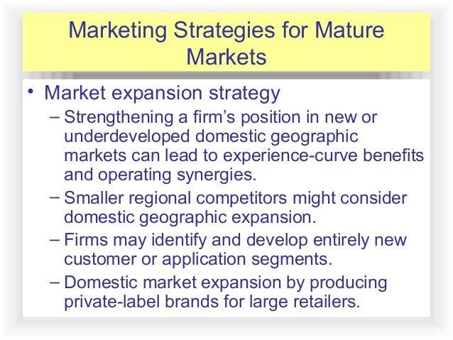 Mature market strategies
