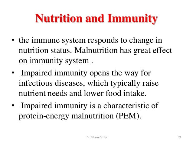 malnutrition immune system and life expectancy Malnutrition may arise with inadequate or overabundant food intake, an imbalance of dietary nutrients or an inability to digest, absorb or utilize the food you eat because all organ systems in your body require the building blocks and energy food provides, malnutrition can adversely affect your health in ways that range from mild to.