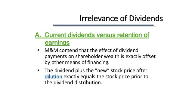 """dividend payments impact on shareholders wealth finance essay The paper analyses the impact of dividend policy of the dividend policy and share """"the impact of initiating dividend payments on shareholders' wealth."""