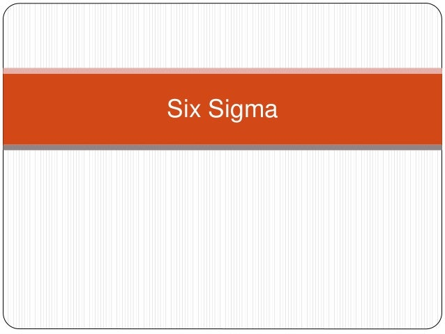 Six Sigma In Supply Chain Management