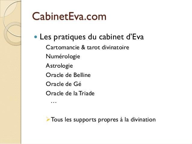 CabinetEva.com   Les pratiques du cabinet d'Eva Cartomancie & tarot divinatoire Numérologie Astrologie Oracle de Belline ...