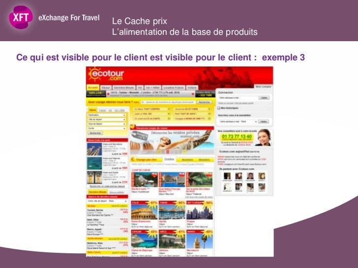Le Cache prix                       L'alimentation de la base de produitsCe qui est visible pour le client est visible pou...