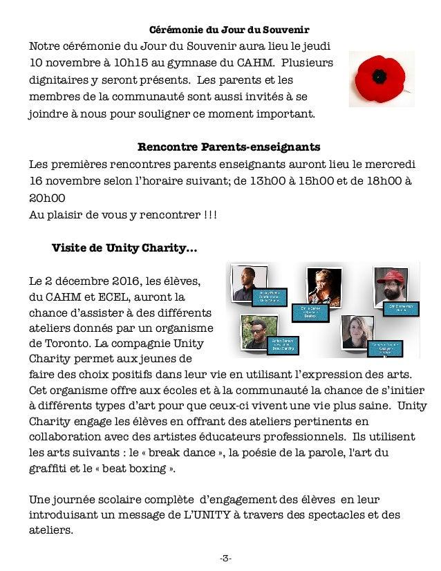 Le CAHMlot du mois de novembre 2016 Slide 3