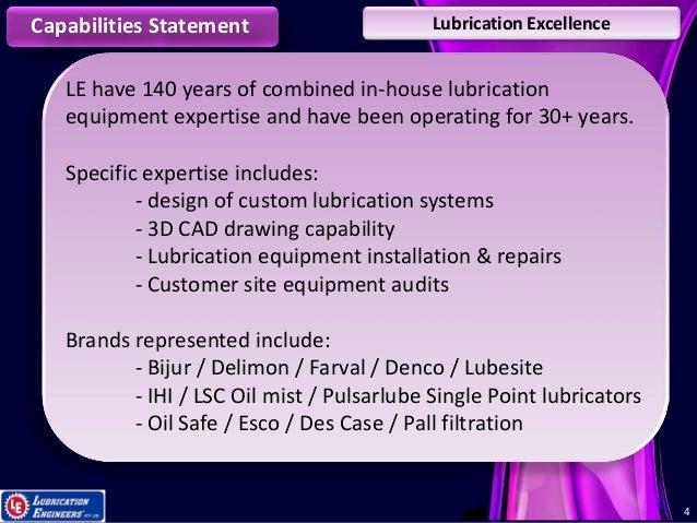 Lsc Oil Mist Systems : Le capabilities presentation