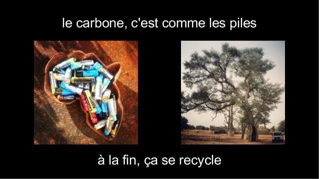 le carbone, c'est comme les piles  à la fin, ça se recycle