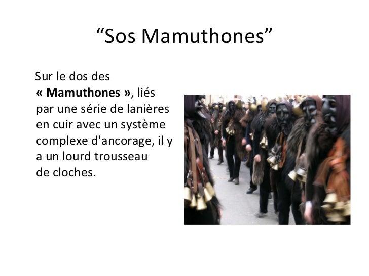 """"""" Sos Mamuthones"""" Sur ledos des  «Mamuthones» ,liés parunesériedelanières en cuiravecun système  complexe d'anc..."""