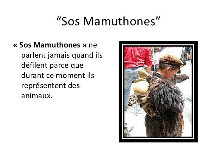 """"""" Sos Mamuthones"""" «Sos Mamuthones»  ne parlent jamais quand ils défilent parce que durant ce moment ils représentent des..."""