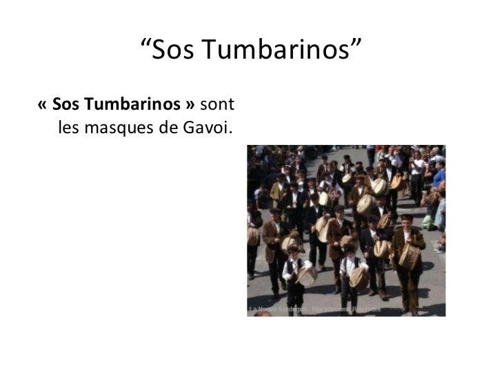 """"""" Sos Tumbarinos"""" «Sos Tumbarinos»  sont les masques de Gavoi."""
