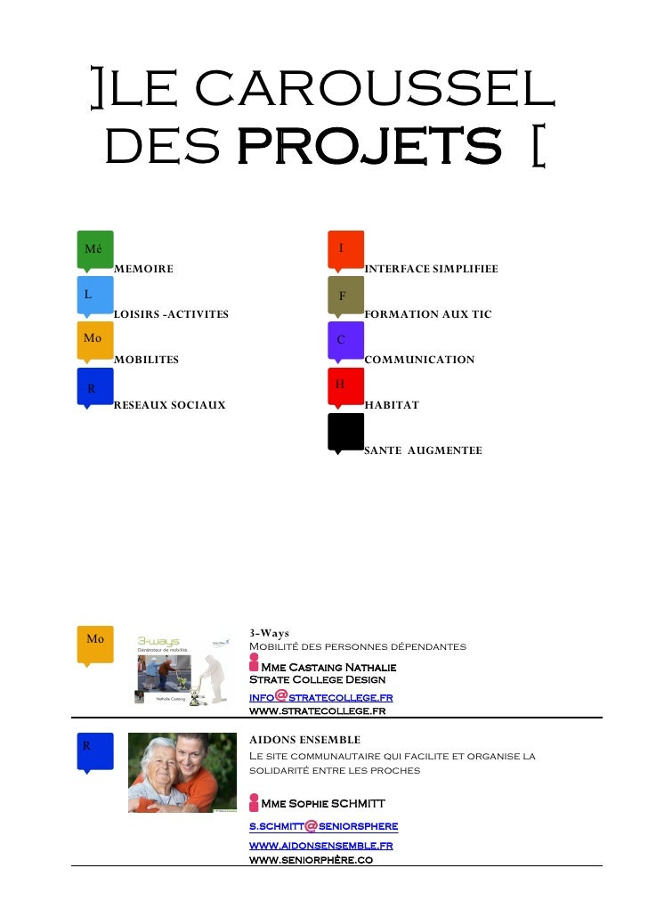 ]LE CAROUSSEL  DES PROJETS [ Mé                                       I      MEMOIRE                                 INTER...