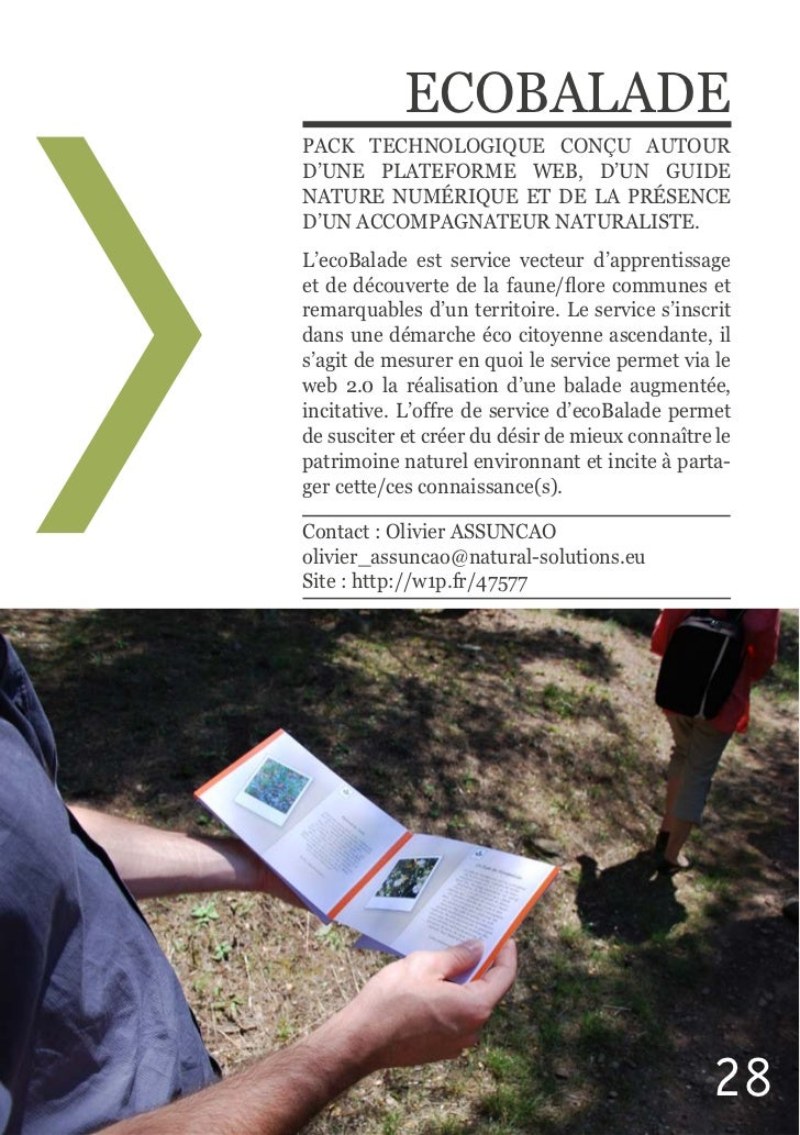 ECOBALADED'UNE  PLATEFORME  WEB,  D'UN  GUIDE NATURE  NUMÉRIQUE  ET  DE  LA  PRÉSENCE L'ecoBalade  est  servi...