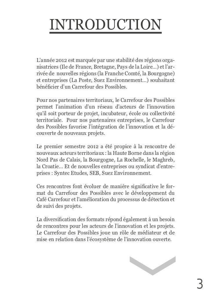 INTRODUCTIONL'année 2012 est marquée par une stabilité des régions orga-nisatrices (Ile de France, Bretagne,...