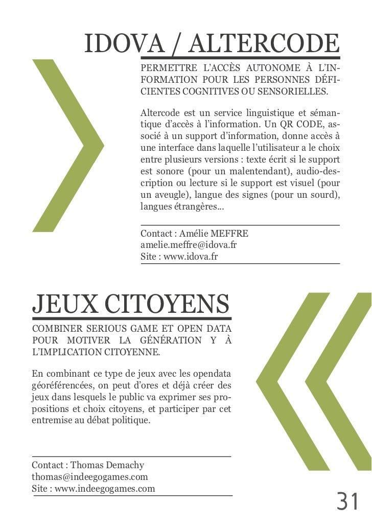 IDOVA / ALTERCODE                                   PERMETTRE  L'ACCÈS  AUTONOME  À  L'IN-                         ...