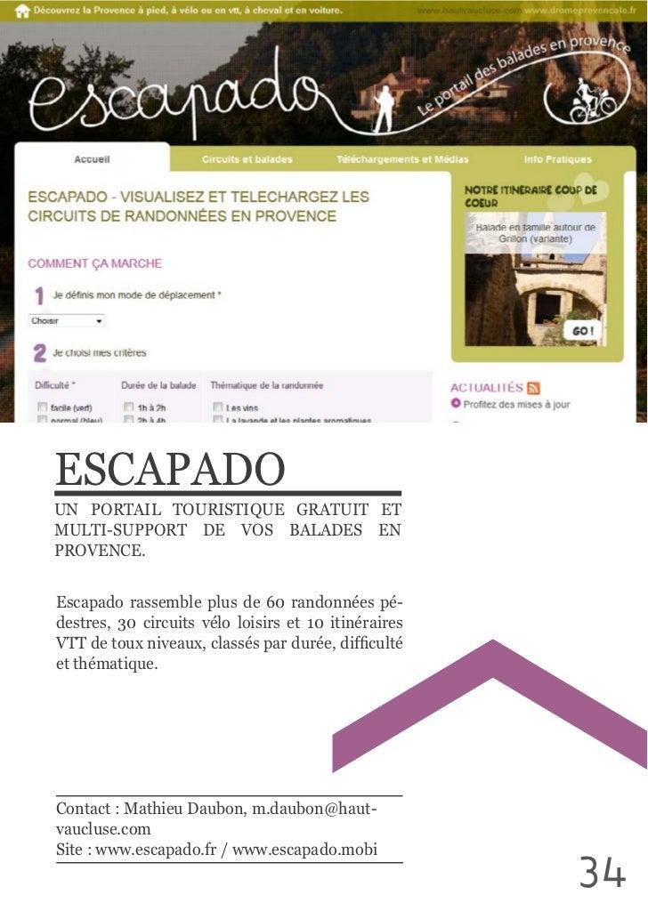 ESCAPADOUN  PORTAIL  TOURISTIQUE  GRATUIT  ET MULTI-SUPPORT  DE  VOS  BALADES  EN Escapado  rassemble  plus ...