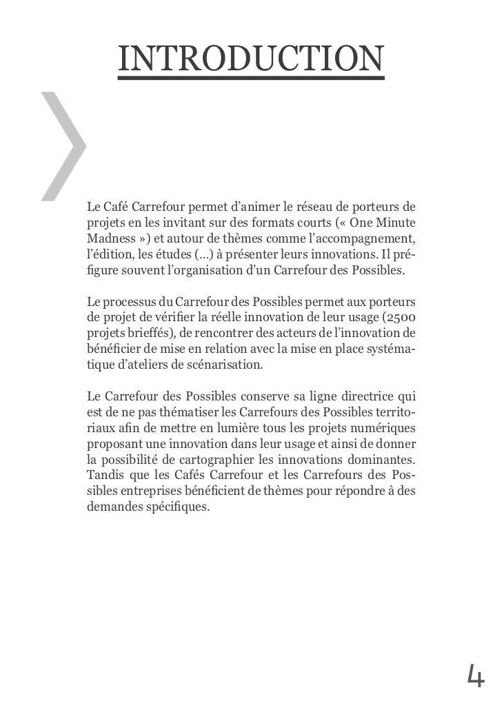 INTRODUCTIONLe Café Carrefour permet d'animer le réseau de porteurs de projets en les invitant sur des for...