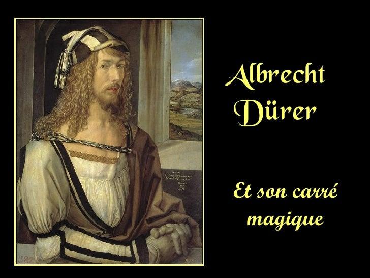 AlbrechtDürerEt son carré magique