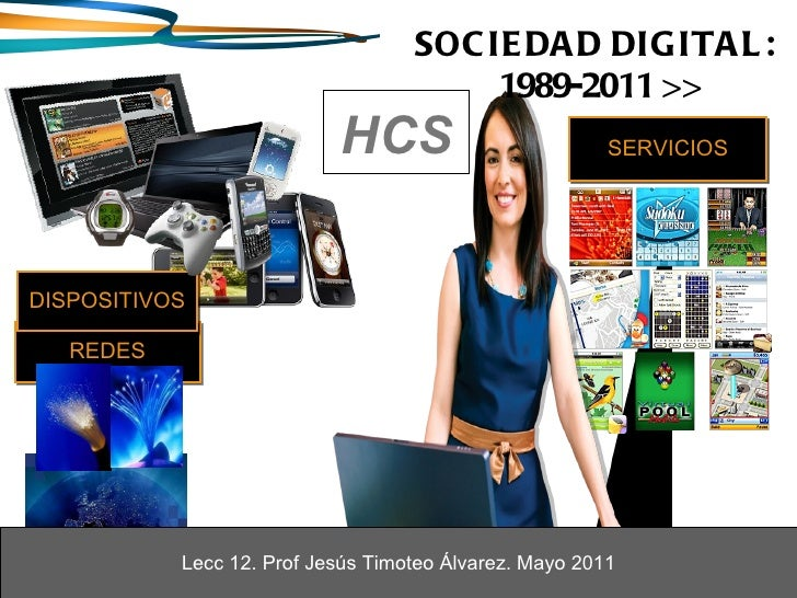 REDES HCS SOCIEDAD DIGITAL:  1989-2011 >> Lecc 12. Prof Jesús Timoteo Álvarez. Mayo 2011 Lecc 12. Prof Jesús Timoteo Álvar...
