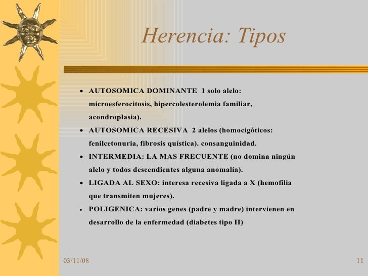 Herencia: Tipos