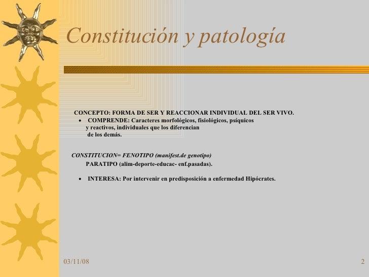 Constitución y patología