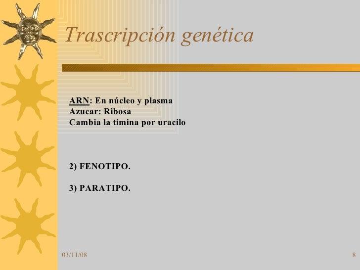 Trascripción genética