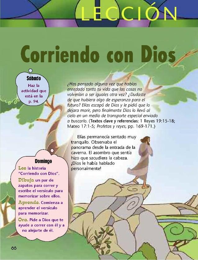 """Corriendo con Dios Sábado Haz la actividad que está en la p. 94. 88 Domingo Lee la historia """"Corriendo con Dios"""". Dibuja u..."""