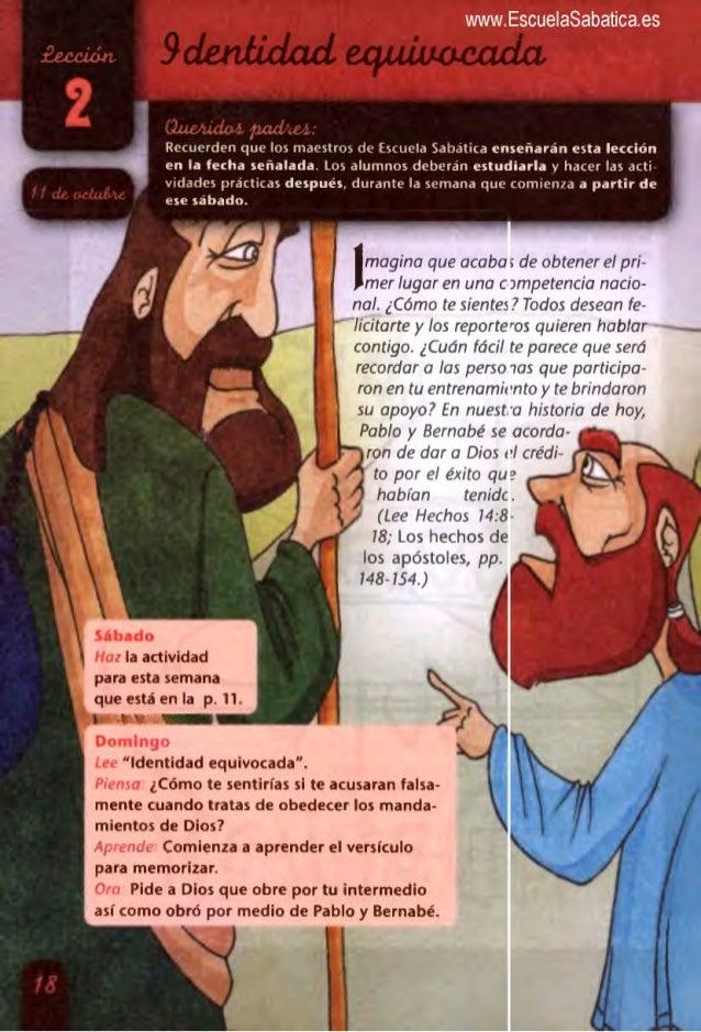 . ' .  . .  afecten:    '                ¿Lujruikl 1 ¡uuiuz J ' Recuerden que los maestros de Escuela Sabatica enseñarán e...