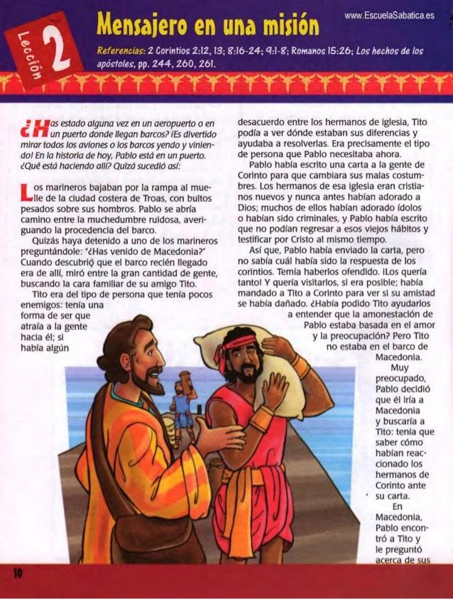 Mensaiero en una mision  n I I wwwEscueiasabaticaes  Referencias':  Z Corintios 2:i2. 13; 8:ió-24; 4+8; Romanos i5:2ó;  Lo...