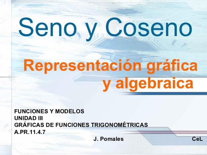 Representación gráfica y algebraica   FUNCIONES Y MODELOS UNIDAD III GRÁFICAS DE FUNCIONES TRIGONOMÉTRICAS A.PR.11.4.7   J...