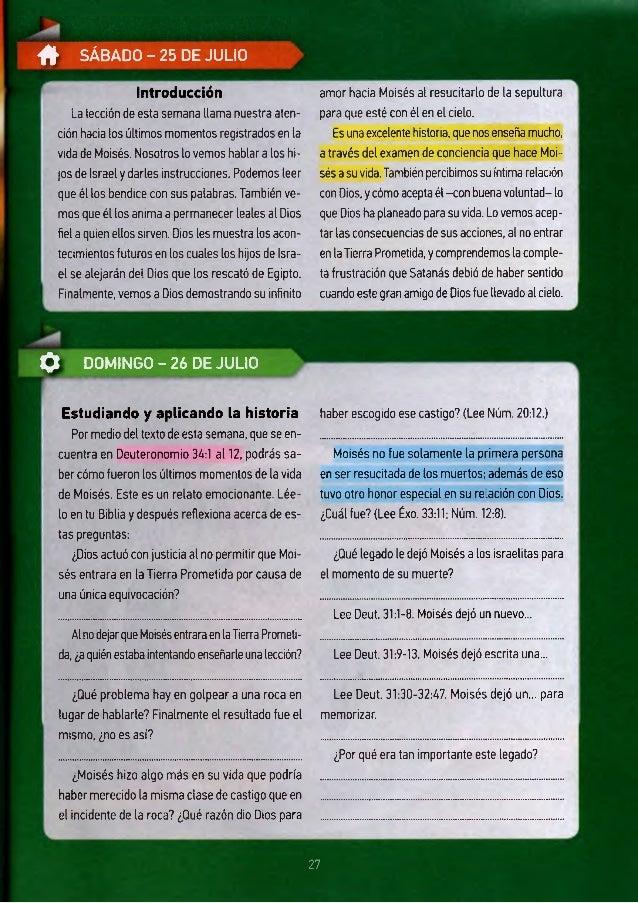 # SÁBADO - 25 DE JULIO Introducción La lección de esta semana llama nuestra aten ción hacia los últimos momentos registra...