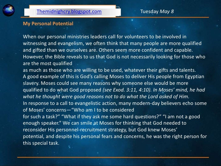 Personal Evangelism and Witnessing