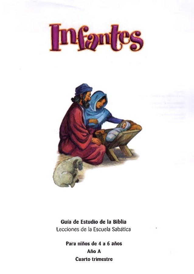 UuuM fs Guía de Estudio de la Biblia Lecciones de la Escuela Sabática Para niños de 4 a 6 años Año A Cuarto trimestre