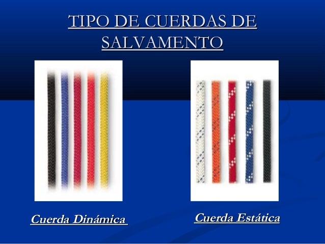 Lecci n n 16 cuerdas y nudos - Tipos de cuerdas ...