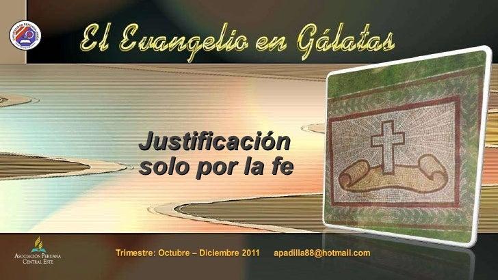 Justificación solo por la fe