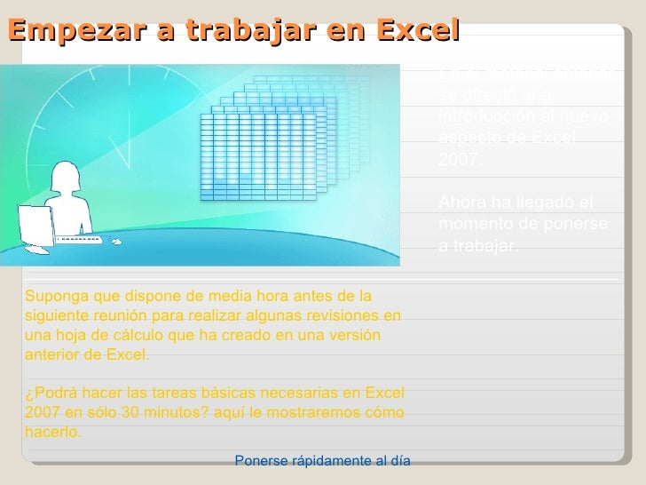 Empezar a trabajar en Excel                                                           Enelmaterialanterior            ...