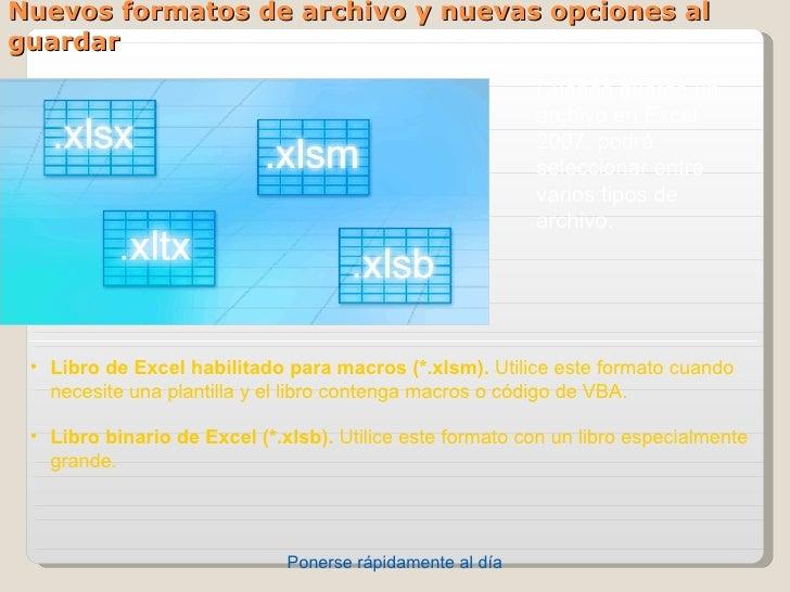 Nuevos formatos de archivo y nuevas opciones alguardar                                                           Cuandogu...
