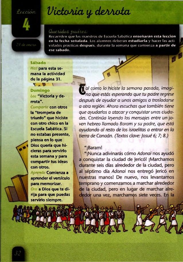 í x 'c u u í VietoAÍa y. deAAola (laeAÍdaA. fixuPicÁ.: Recuerden que los maestros de Escuela Sabática enseñarán esta lecci...