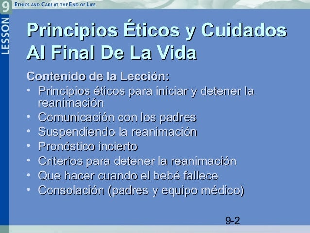 Reanimaci n neonatal lecci n 9 principios ticos y for Cuidados de la vinca