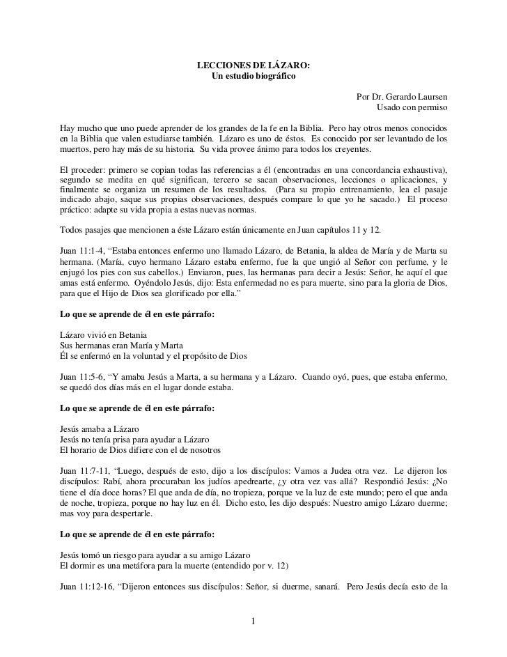 LECCIONES DE LÁZARO:                                        Un estudio biográfico                                         ...