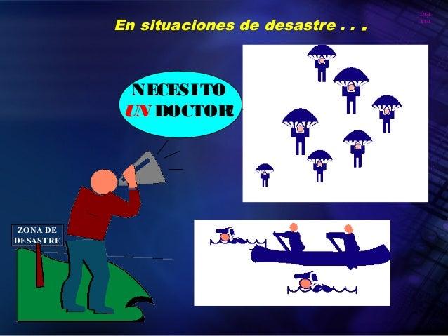 20 10 Organización Panamericana de la Salud En situaciones de desastre . . . NECESITO UN DOCTOR! ZONA DE DESASTRE