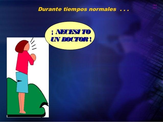 20 10 Organización Panamericana de la Salud Durante tiempos normales . . . ¡ NECESI TONECESI TO UN DOCTORUN DOCTOR !!