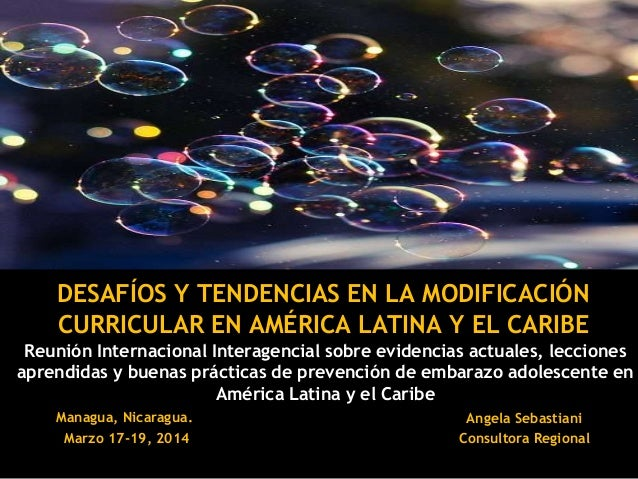 Reunión Internacional Interagencial sobre evidencias actuales, lecciones aprendidas y buenas prácticas de prevención de em...