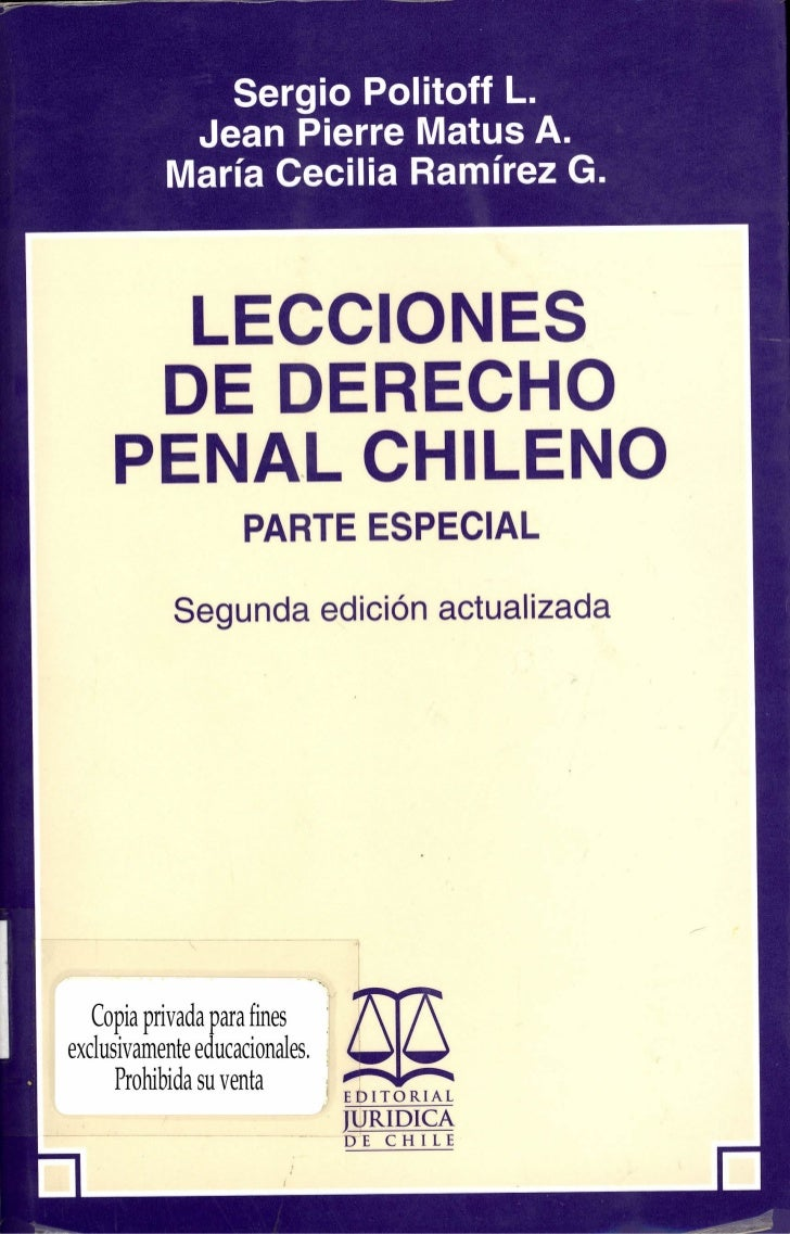 LECCIONES DEDERECHO PENAL CHILENO     Parte Especial