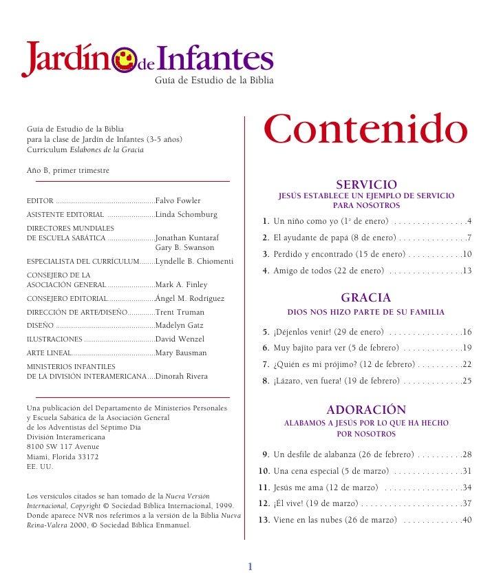 Jardín Infantes                            de                                                  Guía de Estudio de la Bibli...
