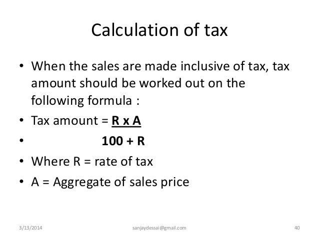 Lecture notes on Goa Value Added Tax