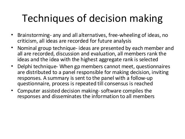 decision making approaches Special article from the new england journal of medicine — the threshold  approach to clinical decision making.