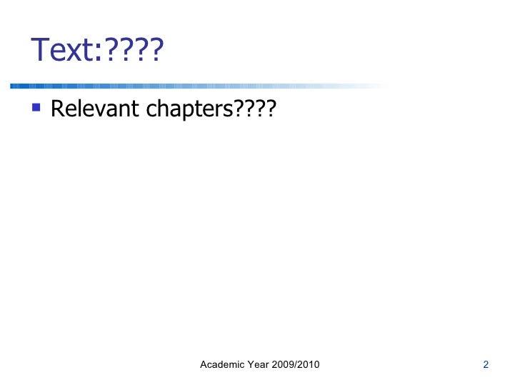 EC4004 Economics for Business Lecture 2 Slide 2