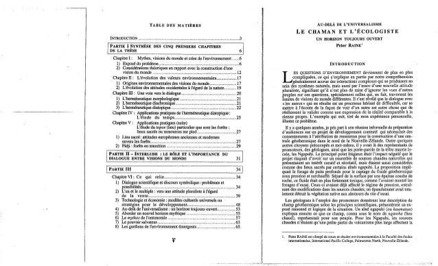 140-Le chaman et l'écologiste. P. Raine. (document à télécharger en format PDF, 3,5Mb).  Slide 3