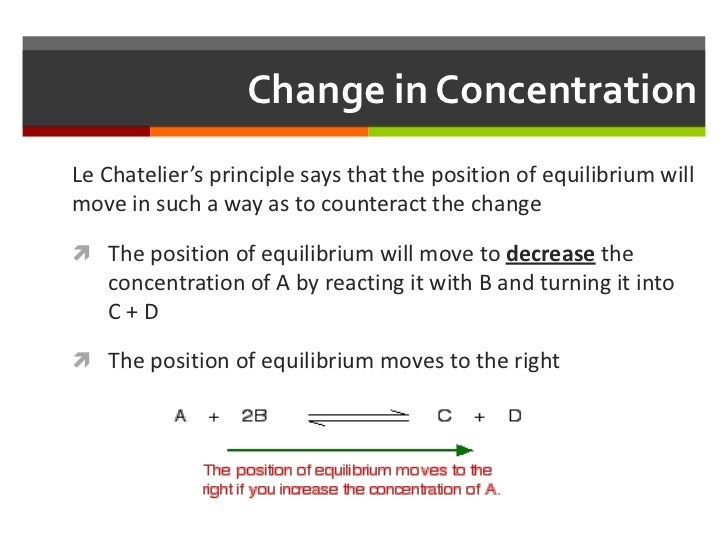 le chateliers Describe the ways in which an equilibrium system can be stressed predict the response of a stressed equilibrium using le châtelier's principle.