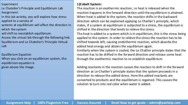 chemistry lab le chatelier s principle lab Le chatelier's principle lab with cobalt complex ions  chemistry demo lab ohio state university 2,546 views  le chatelier's principle equlibrium.